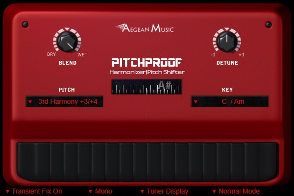 Pitchproof - vocal harmonizer