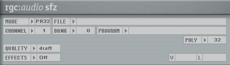 Cakewalk rgs:audio sfz player